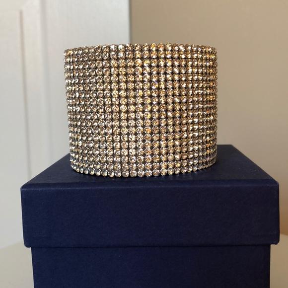 Swarovski crystal thick cuff bracelet. M 5b2259720cb5aa785833df28 568cf903b8